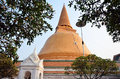 The greatest pagoda of nakhon pathom thailand phra pathommachedi thai พระปฐมเจดีย์ is tallest stupa in Royalty Free Stock Photography
