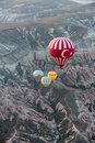 The greatest tourist attraction of cappadocia the flight with the balloon at sunrise turkey Royalty Free Stock Images