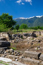 Greece ancient ruins in dion Stock Photography