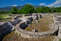Greece ancient ruins in dion Stock Photo