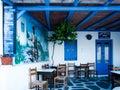 Greece, Athens, typical restaurant taverna in La Plaka neighborhood Royalty Free Stock Photo
