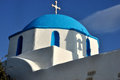 Greece church and bell tower shadow cyclades island typical Royalty Free Stock Image