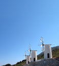 Greece, Crete, Windmills on the  east of island Stock Photography