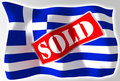 Greece crisis concept flag Royalty Free Stock Photography