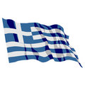 Greece Flag Stock Photography