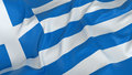 Greece flag d isolated majestic Royalty Free Stock Image