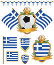 Greece flags Royalty Free Stock Image