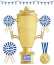Greece football trophy Stock Photography