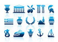 Greece icons Royalty Free Stock Photography