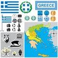 Greece map Royalty Free Stock Photo
