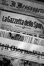 Greece newspaper stand with Italian Newspapers Royalty Free Stock Photo