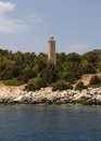Greece old light house on a island Stock Images