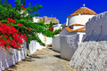 Greece patmos island religious churches and monastery Royalty Free Stock Photography