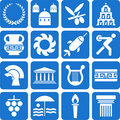 Greece pictograms Royalty Free Stock Photo