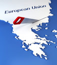 Greece secession from European Union Royalty Free Stock Photos