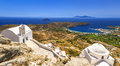 Greece serifos island cyclades authentic view of with old churches Stock Images