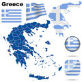Greece  set. Royalty Free Stock Photography
