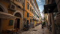 Greece street Corfu Old Town Royalty Free Stock Photo