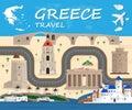 Greece travel background Landmark Global Travel And Journey Info