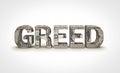 Greed Royalty Free Stock Photo