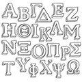 Greek alphabet sketch Royalty Free Stock Photo