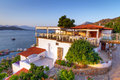 Greek architecture at Mirabello Bay Stock Photography