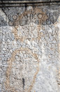 Greek articles on the ruin stone aizanoi cavdarhisar kutahya turkey Royalty Free Stock Photos