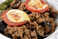 Greek Balkan Lamb Moussaka Royalty Free Stock Photo