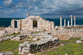 Greek basilica at chersonesus ancient taurica crimea ukraine Stock Photography