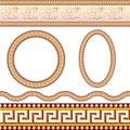 Greek border patterns Stock Photos