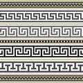 Greek borders collection Stock Images