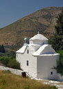 Greek catholic church in Samos island, Greece Royalty Free Stock Photography
