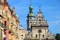 Greek catholic church of st andrew bernardine church lviv old town and ukraine Stock Image