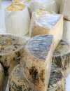 Greek cheeses vertical Royalty Free Stock Photo