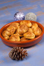 Greek Christmas cookies Stock Images