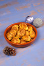 Greek Christmas cookies Royalty Free Stock Photography