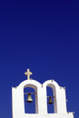 Greek church and clear blue sky Royalty Free Stock Photography