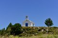 Greek church on the country side Royalty Free Stock Photography