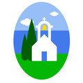 Greek church easter egg sticker Royalty Free Stock Photography