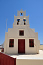 Greek church on island of Santorini in Oia Stock Image