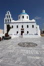 Greek church in Oia, Santorini Royalty Free Stock Photo