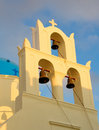 Greek church at Santorini island Stock Photography