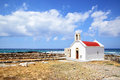 Greek church traditional in hersonissos crete island Royalty Free Stock Image