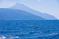 Greek coast of aegean sea near holy mountain athos chalkidiki greece Stock Image