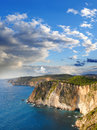 Greek coast in Zakinthos island Royalty Free Stock Photo