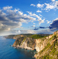 Greek coast in Zakinthos island Royalty Free Stock Images