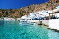 Greek coastline village of Loutro, Crete Royalty Free Stock Photo