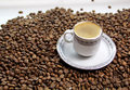 Greek coffee with coffee beans Royalty Free Stock Photo