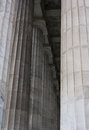 Greek columns in vertical pattern is a part of the architectural history Royalty Free Stock Image