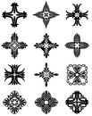 Greek cross icons a series of floral patterns that form shapes Stock Images